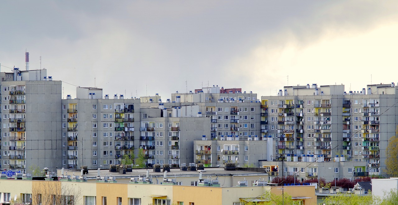 duże osiedle mieszkalne
